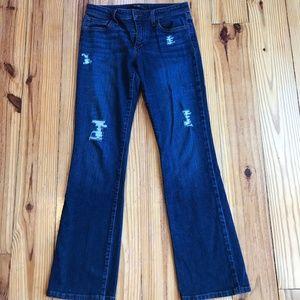 Joe's jeans Distressed Dark wash Jeans Boot cut 29